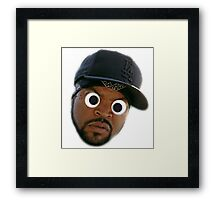 Googly-Ice Cube Framed Print