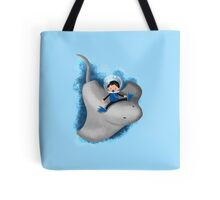 Stingray and boy Tote Bag