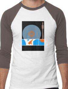 Peace Turntable Vinyl Record Men's Baseball ¾ T-Shirt