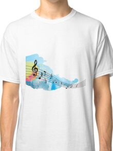 Hand painted music notes Classic T-Shirt