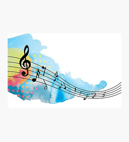 Hand painted music notes Photographic Print