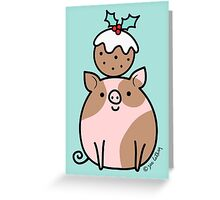 Pig 'n' Pud Greeting Card