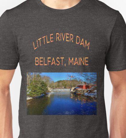 Little River Dam, Belfast, Maine  Unisex T-Shirt