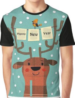 Deer Merry Christmas! Graphic T-Shirt