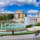 Palais du Chaillot and Trocadero Fountains, Paris, France by Elaine Teague