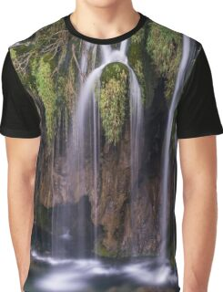 Waterfalls in Plitvice National Park,Croatia,Europe Graphic T-Shirt