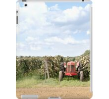 Red Tractor in a Grape Field iPad Case/Skin
