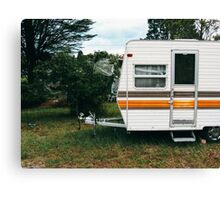 Vintage Trailer Old and Loved Canvas Print