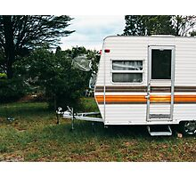 Vintage Trailer Old and Loved Photographic Print