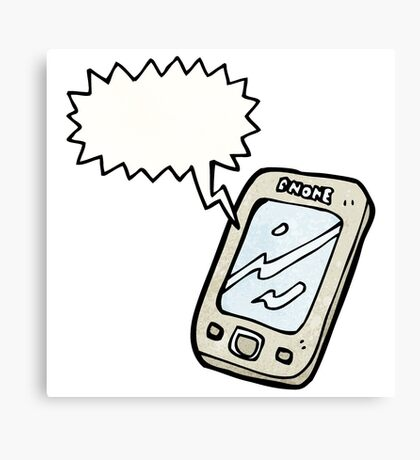 cartoon phone Canvas Print