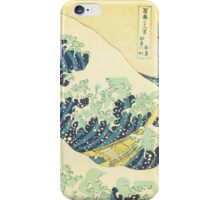 The Great Wave off Kanagawa (detail) iPhone Case/Skin