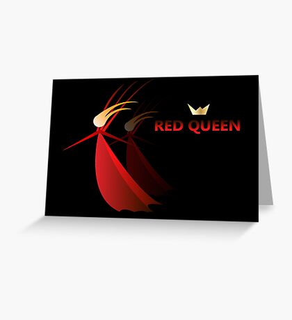 Red queen, women in red, god save queen Greeting Card