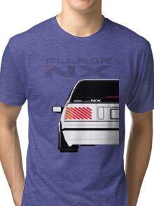 Nissan NX Pulsar Sportback - White Tri-blend T-Shirt
