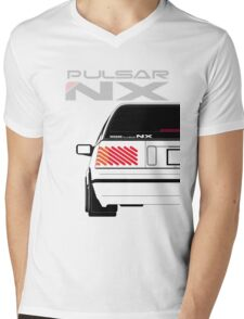 Nissan NX Pulsar Sportback - White Mens V-Neck T-Shirt