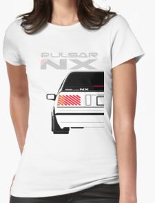 Nissan NX Pulsar Sportback - White Womens Fitted T-Shirt