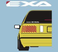 Nissan Exa Sportback - Yellow Baby Tee