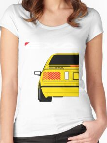 Nissan Exa Coupe - Yellow Women's Fitted Scoop T-Shirt