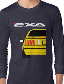 Nissan Exa Coupe - Yellow Long Sleeve T-Shirt