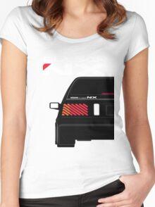 Nissan NX Pulsar Sportback - Black Women's Fitted Scoop T-Shirt