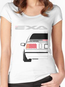 Nissan Exa Coupe - White Women's Fitted Scoop T-Shirt