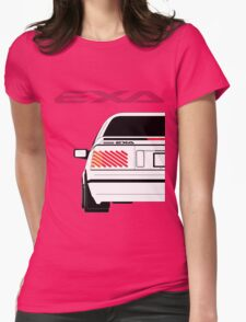 Nissan Exa Coupe - White Womens Fitted T-Shirt