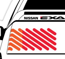 Nissan Exa Coupe - White Sticker