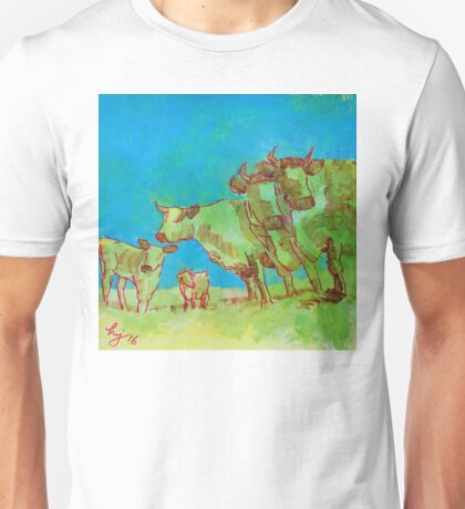 Herd of Cows painting Unisex T-Shirt