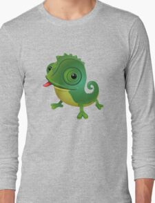Funny cartoon chameleon Long Sleeve T-Shirt