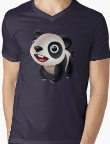 Cute cartoon panda bear Mens V-Neck T-Shirt