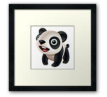 Cute cartoon panda bear Framed Print