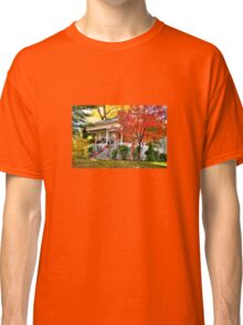 Happy Halloween Decorated Fall House Classic T-Shirt
