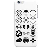 Naruto Clans Symbol Black iPhone Case/Skin