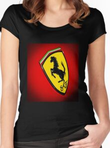 Il Cavallino Ferrari Women's Fitted Scoop T-Shirt