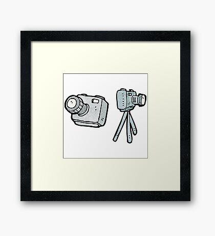 cartoon camera Framed Print
