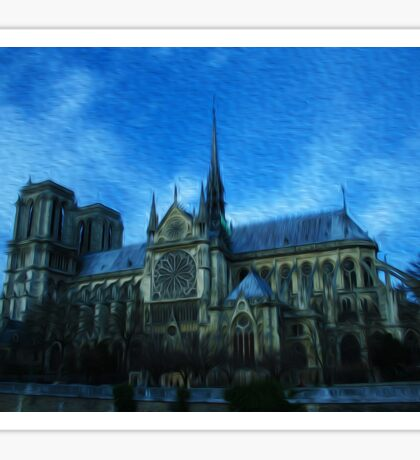 Notre Dame Painting Sticker