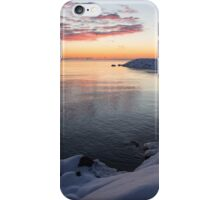 Snowy Pink Dawn on the Lake iPhone Case/Skin
