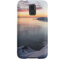 Snowy Pink Dawn on the Lake Samsung Galaxy Case/Skin
