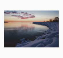Snowy Pink Dawn on the Lake Kids Clothes