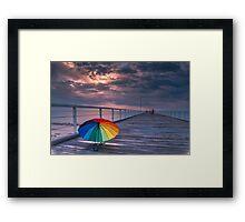 Rainy Jetty Framed Print