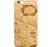 Antique Map of America and the Pacific iPhone Case/Skin