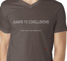 Jumps to Conclusions Mens V-Neck T-Shirt