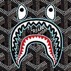 bape goyard black by gelastelu