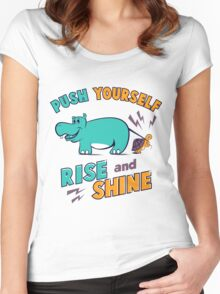 HIPPO AND TURTLE Women's Fitted Scoop T-Shirt