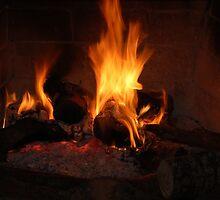 Fireplace  by Kostas Kalomiris