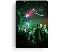 laser stripes Canvas Print