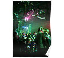 laser stripes Poster