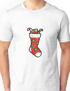 cartoon christmas stockings Unisex T-Shirt