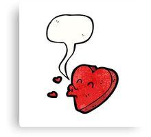 cartoon love heart Canvas Print