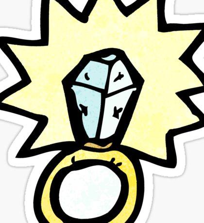 huge diamond ring cartoon Sticker