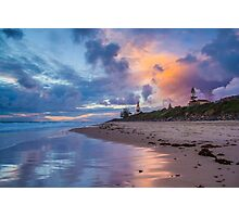 Christies Beach Sunset Reflection Photographic Print